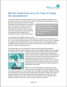 RIM Systems for Medical Devices